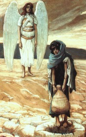 James Tissot Hagar-and-the-angel-in-the-desert